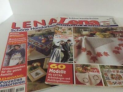 2 Zeitschriften, Lena - Schöne Handarbeiten