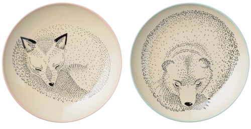 Bloomingville Mini Adelynn Kinderteller Fuchs Bär Ø 25 cm dänisch Design