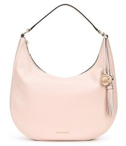 b71ee7a1d4670 NWT MICHAEL Michael Kors Lydia Large Hobo Bag Soft Pink Leather ...