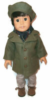 American Girl Boy Doll Clothes Peacoat Winter Coat