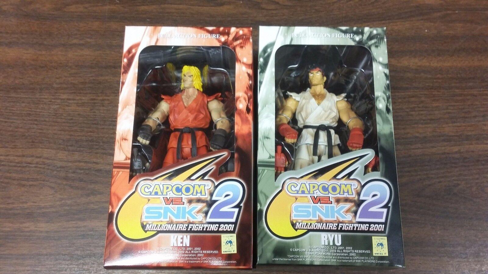 Capcom VS. SNK 2 Millionaire Fighting 2001 Ken & Ryu Figures NEW FREE SHIP US