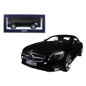 2014 MERCEDES S Class Coupe Black 1/18 Diecast Model Car By NOREV