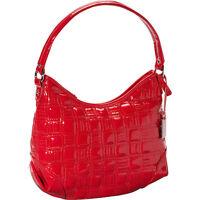 Nine West Show Stopper Small Shoulder Hobo Bag Purse Dark Lipstick Red Tags