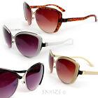 New Cat Eye Plastic Metal Frame Hot Fashion Oversized Women's Sunglasses