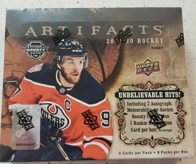 2019-20 Upper Deck Artifacts Hockey Hobby Box New with NHL Player Signed Card