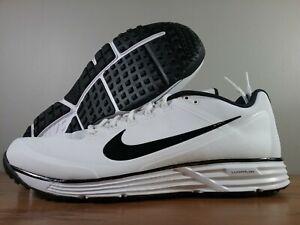 Nike-Lunar-Clipper-039-17-Baseball-Turf-Trainer-White-Black-880262-101-Men-039-s-Sizes