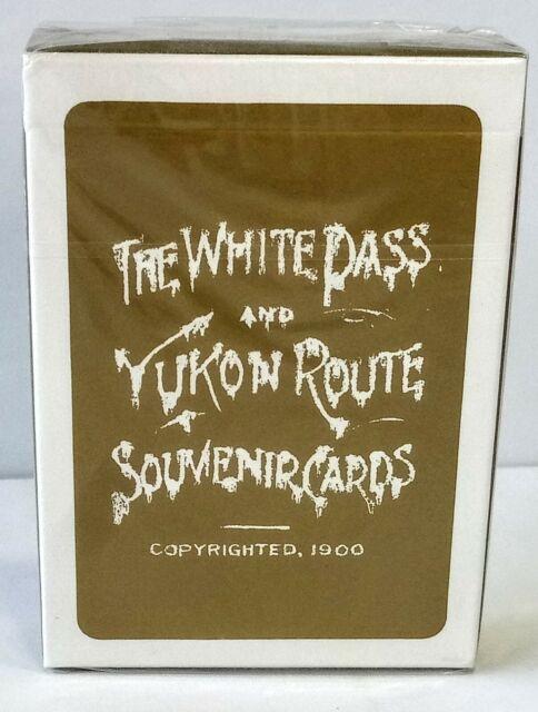 Antique Playing Cards White Pass Yukon Route Souvenir Cards 1900 Train Railroad
