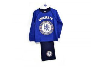 Licensed Boys Chelsea Football Club Pyjamas PJs Nightwear Kids Age 3-4 Years