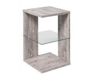 Beistelltisch regal beistellregal mit glaseinlegeboden for Wohnzimmertisch 40x40
