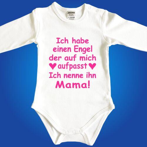 Baby Strampler Body Frei wählbar Engel sind Papa Mama Oma Opa Onkel Tante