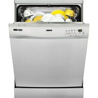 Zanussi Zdf26001xa Dishwasher Stainless 60cm Freestanding 12 Place A+ Rated
