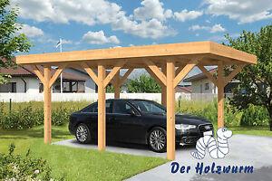 carport sloten 350x500 cm garage holz unterstand 15 x 15cm pfosten flachdach neu ebay. Black Bedroom Furniture Sets. Home Design Ideas