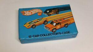 Vintage Mattel Hot Wheels 12 Car Collector's Carrying Case Redlines Free S&H