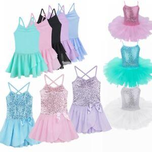 ea3847558b31 Girls Party Costume Ballet Tutu Dance Dress Kids Leotard Toddler ...