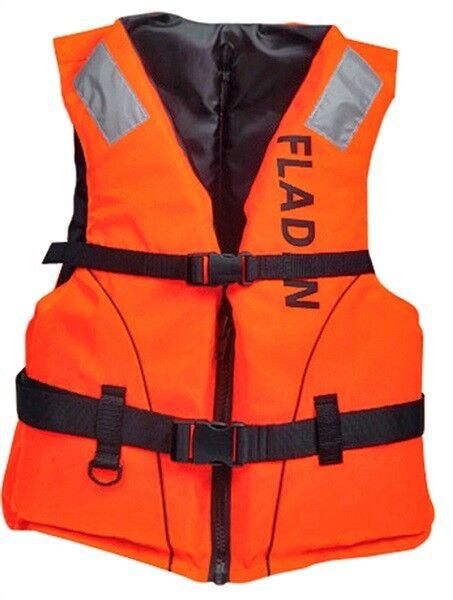 orange Buoyancy Aid Fladen 50N Classic 25-40kg adjustable straps