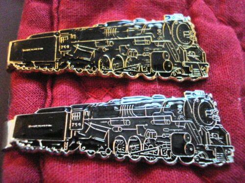 Railroad Locomotive NPR 759 Tie Clip Clasp Set of 2 NEW