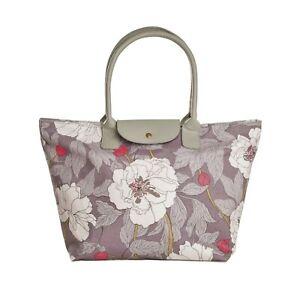 Grey-Shopper-Work-Shoulder-Bag-Tote-Zip-Floral-Flower-Ladies-Fashion-Gifts-New