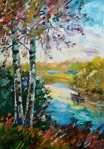 ORIGINAL-OIL-PAINTING-Landscape-ART-BY-UKRAINE-ARTIST