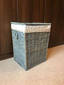 image is loading grey large shabby chic rattan wicker laundry basket - Wicker Laundry Basket