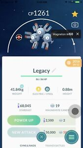 Details about Pokemon Go Magneton PVP TS Thunder Shock Legacy Move Under  1500 CP Jungle Cup