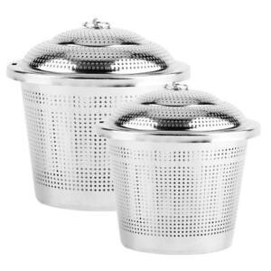 Stainless Steel Spice Seasoning Bag Mesh Ball Shape Tea Filter Basket Infuser US