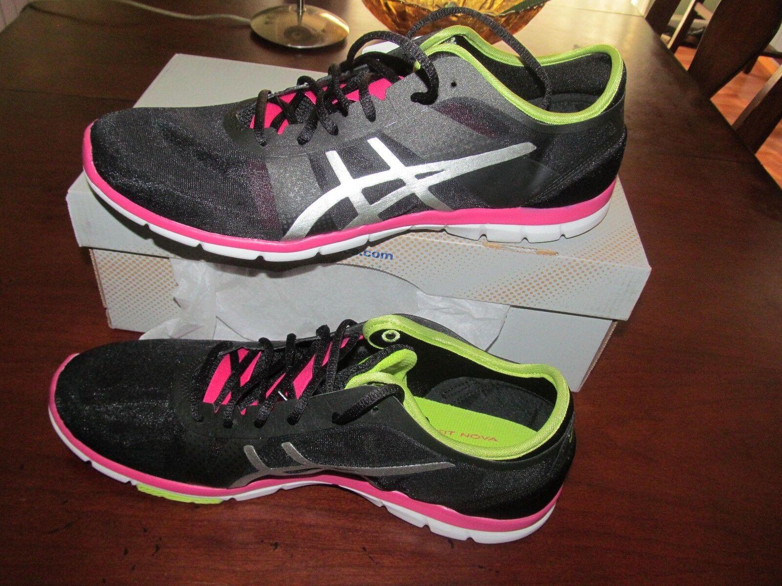 Asics Womens Gel-Fit Nova Black Trainers Shoes Price reduction Cheap women's shoes women's shoes