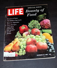 BOUNTY OF FOOD NOVEMBER 23 RD 1962  LIFE MAGAZINE