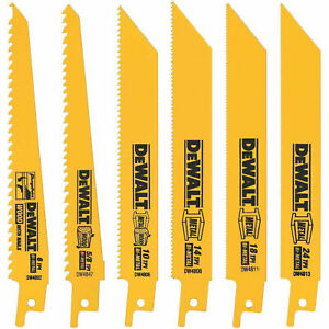 6pc Reciprocating Saw Blade Dcs381 Dewalt Dwe304 Craftsman
