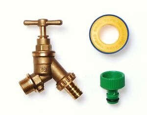Outside Tap With Double Check Valve DCV and Garden Hose Fitting