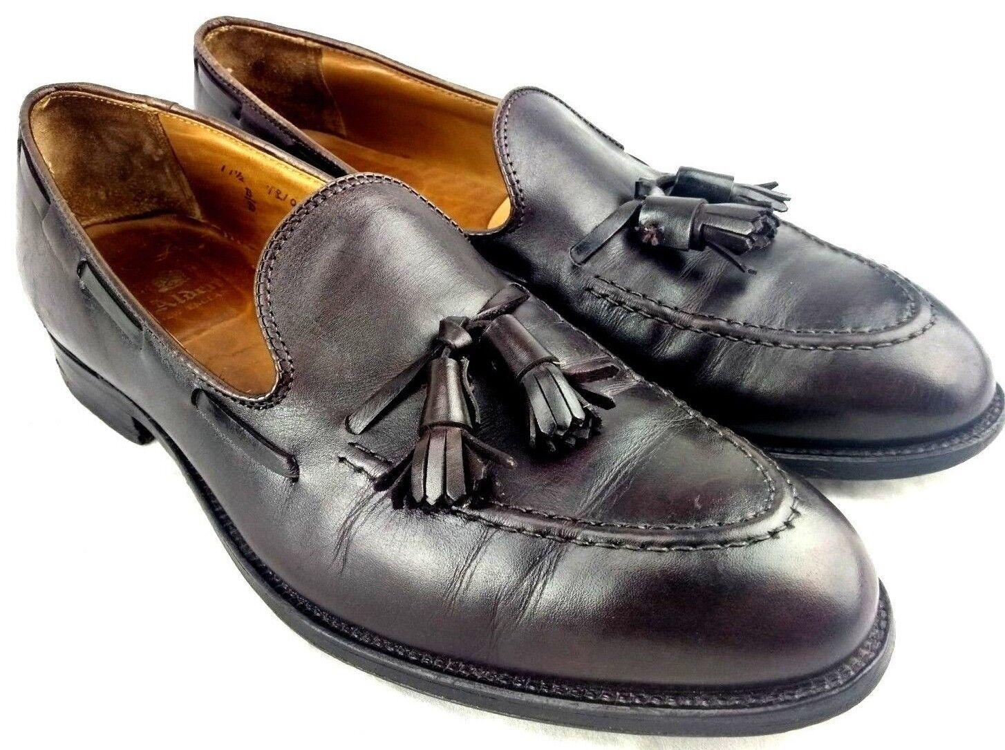ALDEN 663 Mens Sz 11.5 B D Calfskin Dress Loafers Tassel Moc Toe Burgundy 40-10