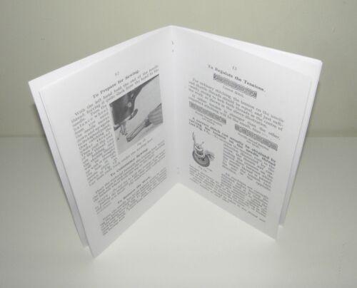 Singer Sewing Machine 29K 70 Instruction /& Adjustment Manual Reproduction