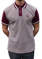 Trojan Records Burgundy Dogtooth Polo Shirt Mod Clothing Soul Ska Skinhead