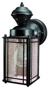 Details About Black Traditional Outdoor Wall Light Motion Sensor Security Home Lantern Sconce
