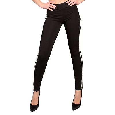 3d1b90aca9ced1 Leggins donna pantaloni leggings push up fusò aderente banda lato pizzo  fk63739 | eBay