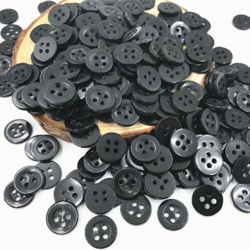 lot 10 bouton noir rond 4 trou 20 mm  couture scrapbooking création art créatif