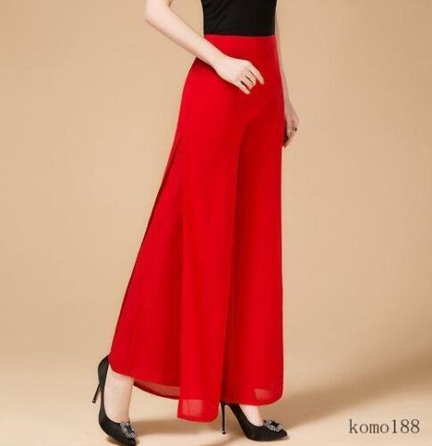 Summer Women/'s Wide Leg Long Casual chiffon Pants Loose Bohemian Trousers new
