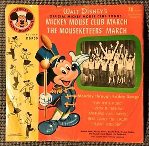 78-RPM-1955-Walt-Disney-s-MICKEY-MOUSE-CLUB-MARCH-with-Picture-Sleeve