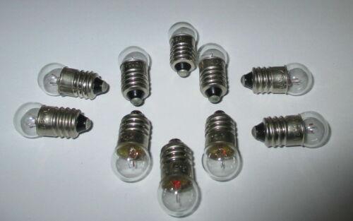 10 x Glühbirne E10 für Puppenhaus oder Krippenlampen 3,5Volt    NEU