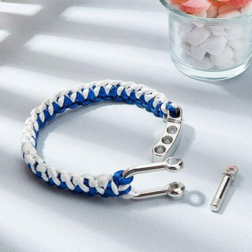 10PCS Metal Buckle U Shaped Shackle Zinc Alloy Adjustable For Paracord Bracelet
