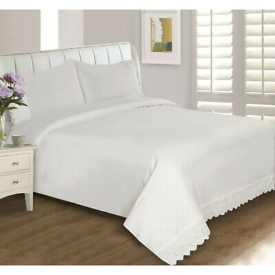 Eyelet Lace 400 Thread Count Sheet Set