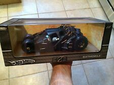 Hot Wheels Batman Begins Batmobile Tumbler 1/18 2004 First Release-NIB GRADE IT
