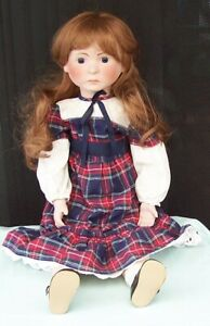 Early-ALRESFORD-Crafts-Irene-Doll-England-c1981-Cloth-amp-Porcelain-English-Toy