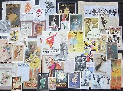 Vtg*PINK/&PURPLE*Ad Art Poster Mix Lots~Junk Journal Collage Ephemera Repro Packs