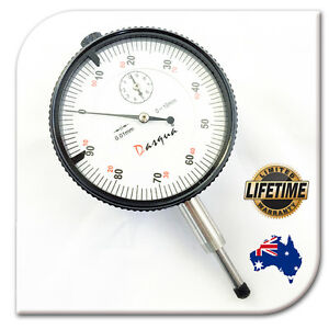 0-10mm Dial Indicator Gauge Flat Back + Lifetime warranty