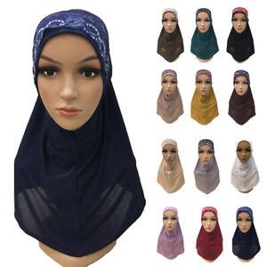 One-Piece-Amira-Hijab-Women-Muslim-Headscarf-Shawl-Wrap-Islamic-Headwear-Turban
