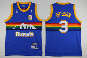 new arrival abf77 44984 denver nuggets jersey allen iverson