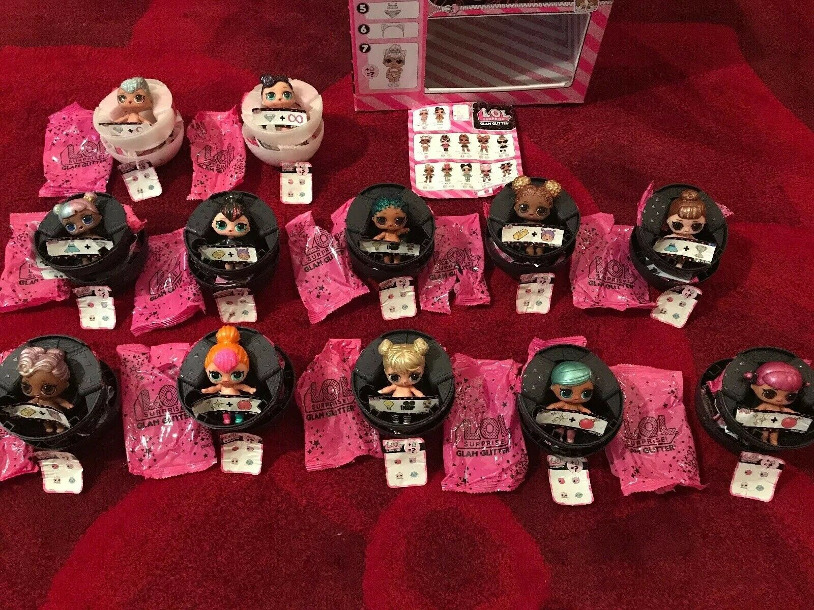L.O.L Surprise Doll Glam Glitter serie Complete Set Of 12 Dolls - Authentic MGA