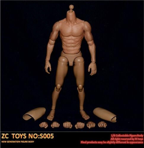 ZC Toys S005 1//6 Scale Narrow Shoulder Muscular Figure Body For 12/'/' Hot Toys