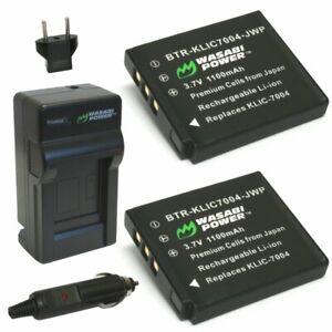 Wasabi Power Battery (2-Pack) and Charger for Pentax D-LI68, D-LI122
