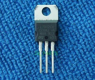 100 PCS IC L7812CV L7812 7812 TO-220 Voltage Regulator 12V NEW S